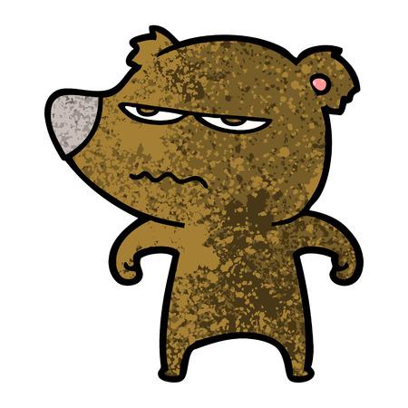 annoyed bear cartoon Illustration
