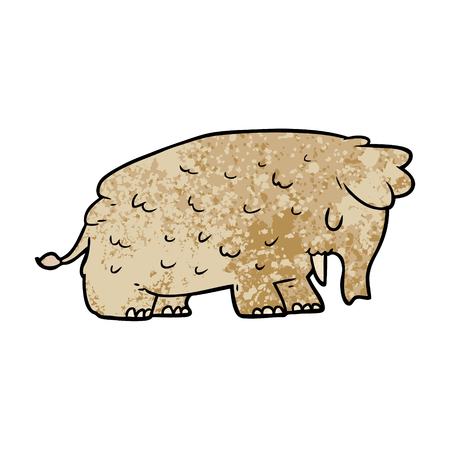 cartoon mammoth illustration design Stok Fotoğraf - 95676169