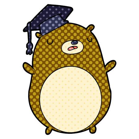 Cartoon graduate bear