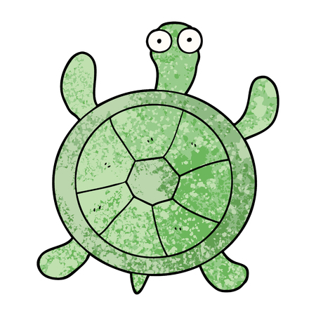 cartoon turtle illustration design Stock Illustratie