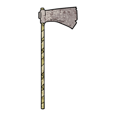 cartoon medieval war ax Vector illustration.