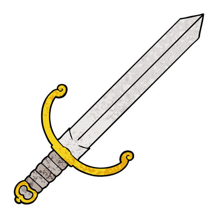 cartoon sword illustration design
