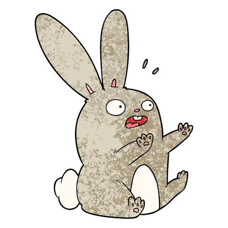 漫画驚いたウサギ  イラスト・ベクター素材