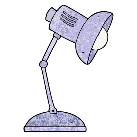 cartoon lamp illustration design Stock Illustratie