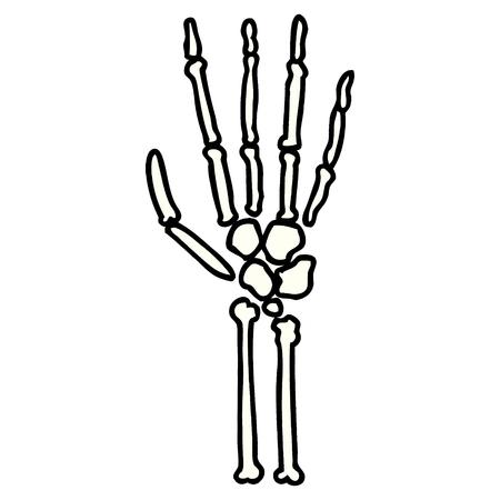 cartoon skeleton hand