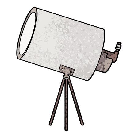 cartoon big telescope Ilustrace