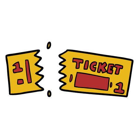 cartoon ticket illustration design