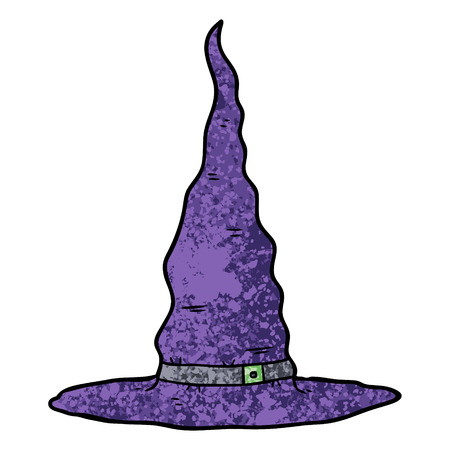 cartoon witches hat illustration design Stock Illustratie