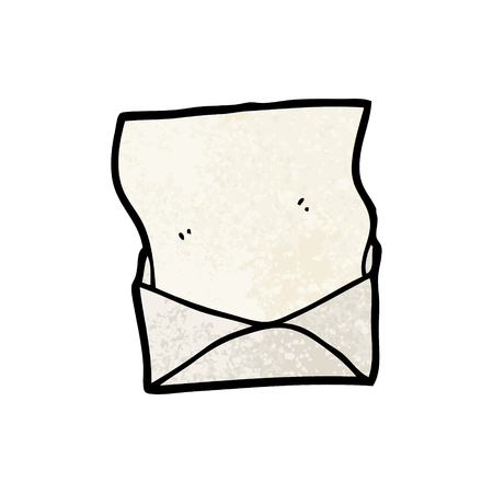cartoon letter and envelope
