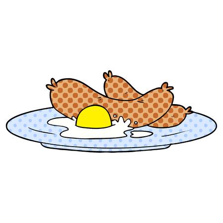 cooked breakfast cartoon