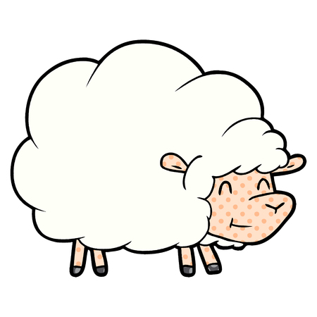 cartoon white sheep illustration