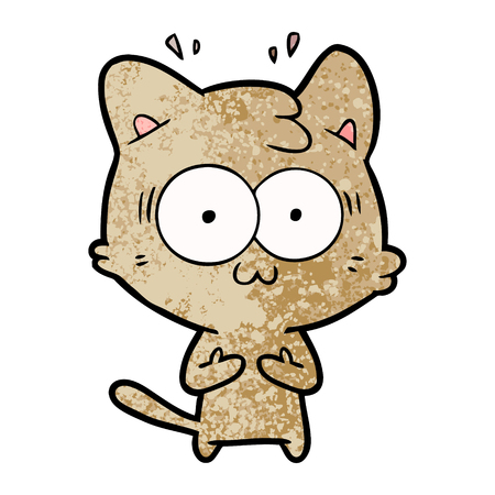 cartoon surprised cat