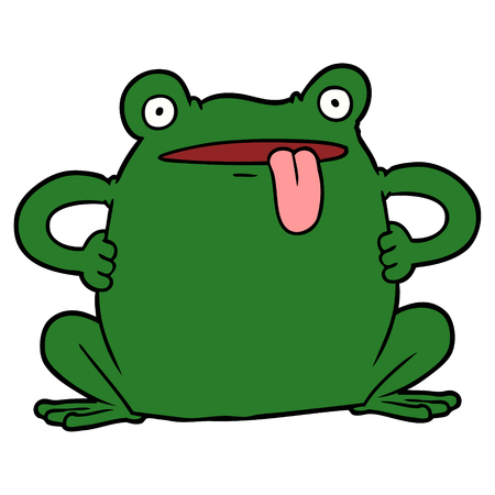 cartoon toad illustration design Illustration