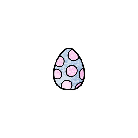 cartoon painted easter egg Foto de archivo - 95678210