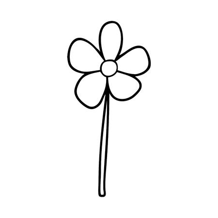 漫画の花のイラストデザイン