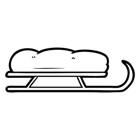 cartoon sledge illustration design Illustration