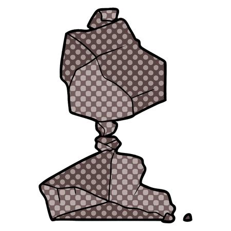 cartoon rocks illustration design