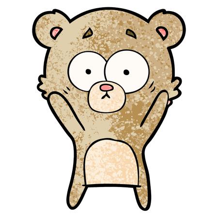 worried bear cartoon