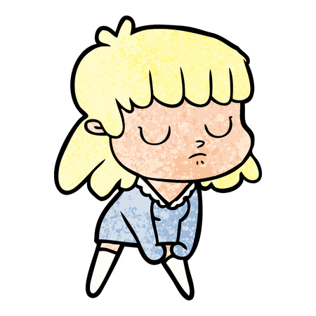 cartoon indifferent woman