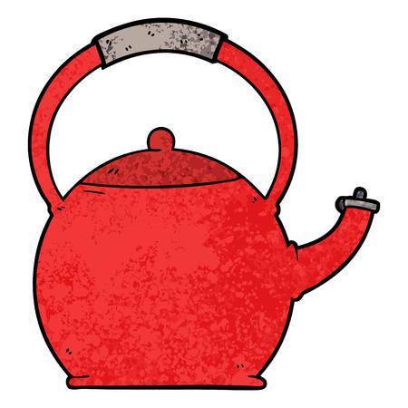 cartoon kettle illustration design