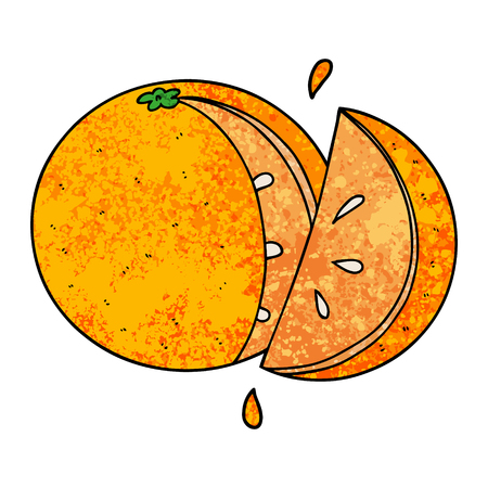 cartoon orange slice