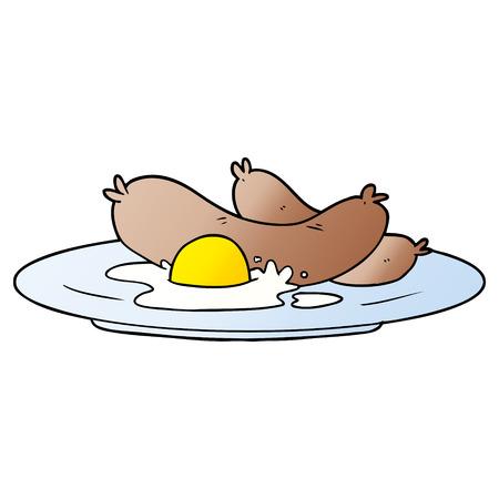 調理された朝食漫画