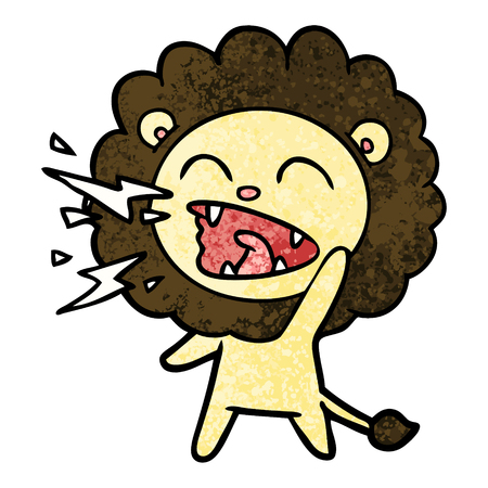Cartoon roaring lion Banque d'images - 95723685
