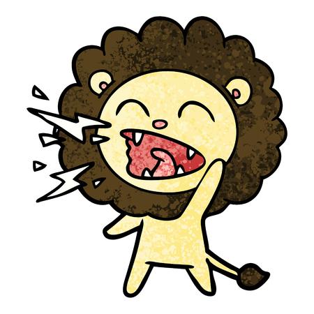 Cartoon roaring lion