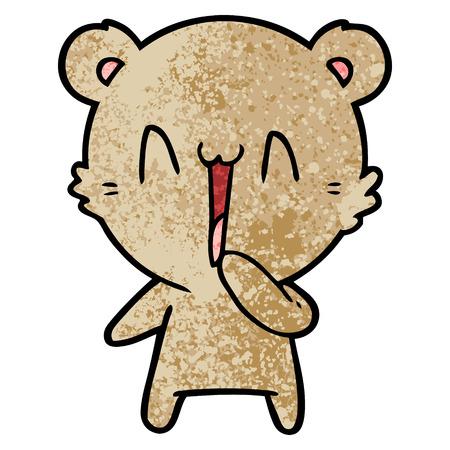Happy bear cartoon Ilustração