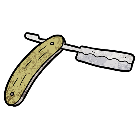 Cut throat razor cartoon Banque d'images - 95687595
