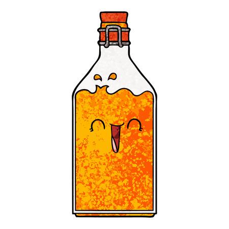Cartoon old juice bottle Ilustracja