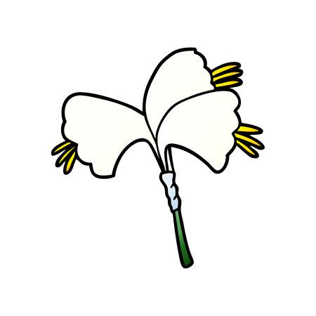 Cartoon lilies Ilustracja