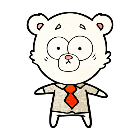 polar bear in shirt and tie cartoon Vector illustration. Foto de archivo - 95858101