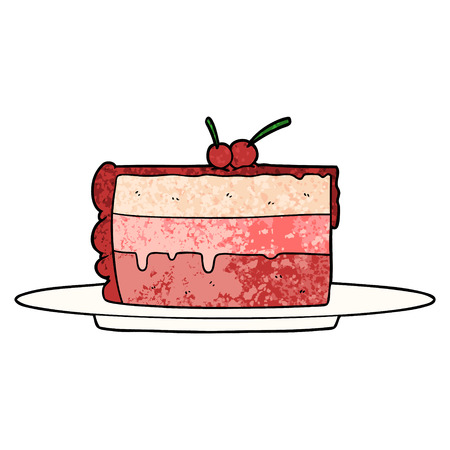 cartoon cake Vector illustration. Imagens - 95858105
