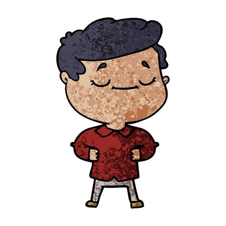 cartoon proud man Vector illustration.