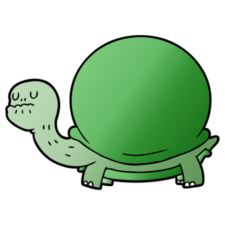 Cartoon green tortoise