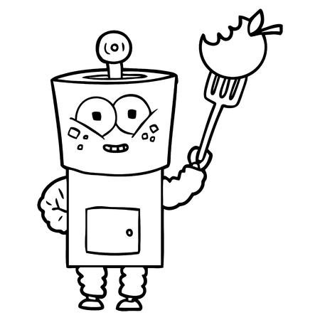 happy cartoon robot hallo zwaaien Vector illustratie. Stock Illustratie