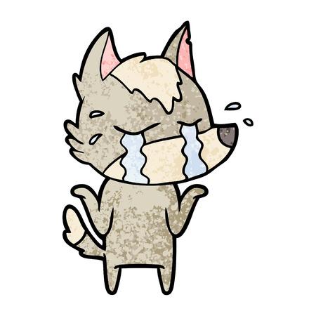 Cartoon crying wolf