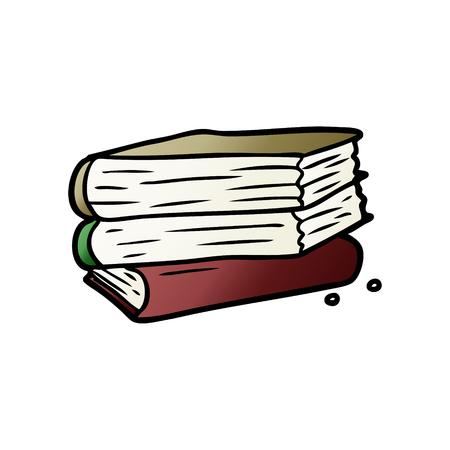 cartoon stack of books Vector illustration.