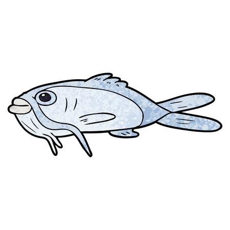Cartoon catfish illustration on white background. Illustration