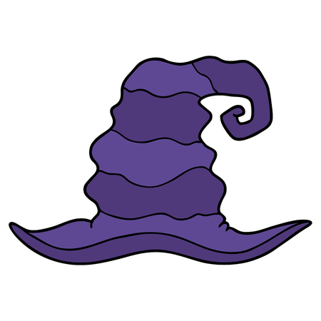 Cartoon purple witch hat