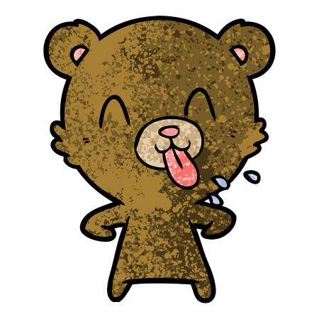 Rude cartoon bear