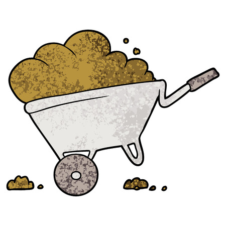 cartoon wheelbarrow Vector illustration.