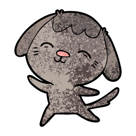 happy cartoon dog Vector illustration. Stockfoto - 95858660