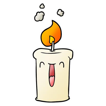 Happy cartoon candle illustration Vettoriali