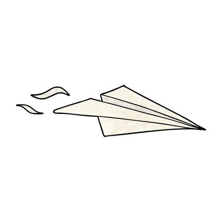 Cartoon paper airplane illustration