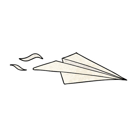 Cartoon paper airplane illustration