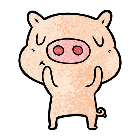 Cartoon content pig