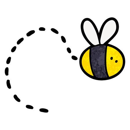 Cartoon bee flying Illustration