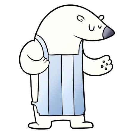cartoon polar bear chef Vector illustration.